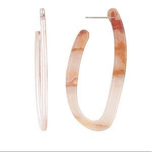 Elongated Resin Hoop Earrings-NWT